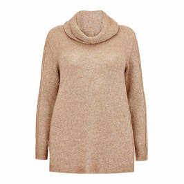 PERSONA BY MARINA RINALDI KNITTED TUNIC TAUPE - Plus Size Collection