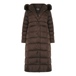 PERSONA BY MARINA RINALDI PUFFER COAT CHOCOLATE - Plus Size Collection