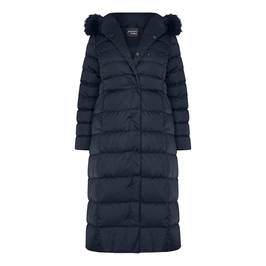 PERSONA BY MARINA RINALDI PUFFER COAT NAVY - Plus Size Collection