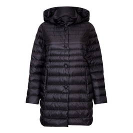 PERSONA BY MARINA RINALDI BLACK HOODED PUFFER COAT  - Plus Size Collection