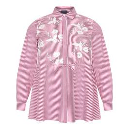 PERSONA BY MARINA RINALDI PURE COTTON EMBROIDERED SHIRT - Plus Size Collection