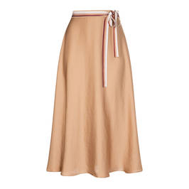 PERSONA BY MARINA RINALDI ANTIQUE GOLD SKIRT - Plus Size Collection