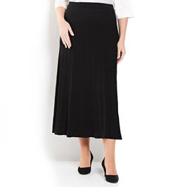 PERSONA BY MARINA RINALDI BLACK PLEATED KNITTED SKIRT  - Plus Size Collection