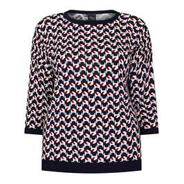 PERSONA BY MARINA ABSTRACT PRINT SWEATER - Plus Size Collection
