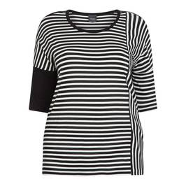 PERSONA BY MARINA RINALDI T-SHIRT BLACK AND WHITE - Plus Size Collection