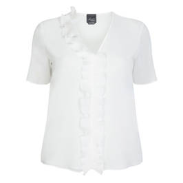 PERSONA BY MARINA RINALDI WHITE TOP - Plus Size Collection
