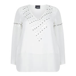 PERSONA BY MARINA RINALDI WHITE EMBELLISHED TUNIC - Plus Size Collection