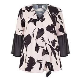 PERSONA BY MARINA RINALDI RUFFLE FRONT TUNIC - Plus Size Collection