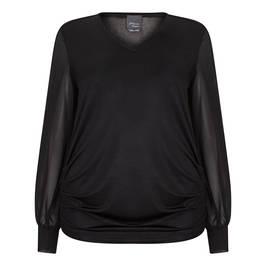 PERSONA BY MARINA RINALDI TUNIC BLACK - Plus Size Collection