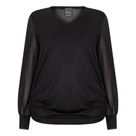 PERSONA BY MARINA RINALDI TUNIC BLACK - Plus Size Collection