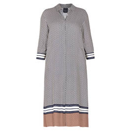 PERSONA BY MARINA RINALDI BORDER PRINT DRESS - Plus Size Collection