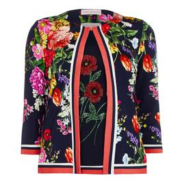 PIERO MORETTI FLORAL JERSEY TWINSET EMBELLISHED  - Plus Size Collection