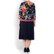 PIERO MORETTI FLORAL JERSEY TWINSET EMBELLISHED