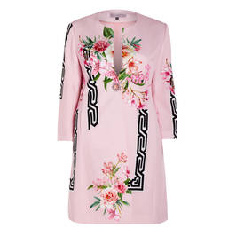 PIERO MORETTI ORIENTAL LILY PRINT COAT - Plus Size Collection