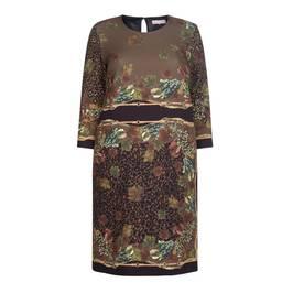 PIERO MORETTI SCOOP NECK PRINT DRESS - Plus Size Collection