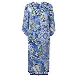 PIERO MORETTI BLUE PRINT MAXI KAFTAN-DRESS - Plus Size Collection