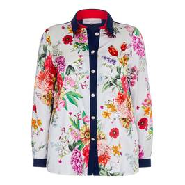 PIERO MORETTI FLORAL PRINT SILK SHIRT - Plus Size Collection
