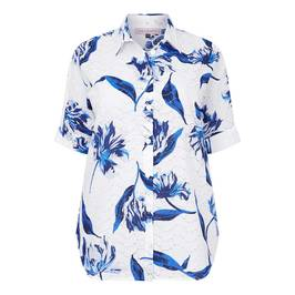 PIERO MORETTI PRINTED BRODERIE ANGLAIS SHIRT - Plus Size Collection