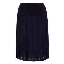 PIERO MORETTI PLEATED SKIRT CHIFFON NAVY - Plus Size Collection