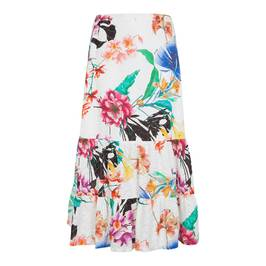 PIERO MORETTI TIERED PRINTED BRODERIE ANGLAIS SKIRT - Plus Size Collection