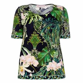PIERO MORETTI TROPICAL PRINT STRETCH JERSEY TUNIC - Plus Size Collection