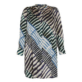 BEIGE PRINTED LONG SHIRT - Plus Size Collection