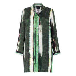 QNEEL LONG-SHIRT PRINT GREEN - Plus Size Collection