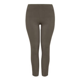 BEIGE TECHNOSTRETCH TROUSERS OLIVE - Plus Size Collection