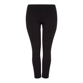 BEIGE TECHNOSTRETCH TROUSERS BLACK - Plus Size Collection