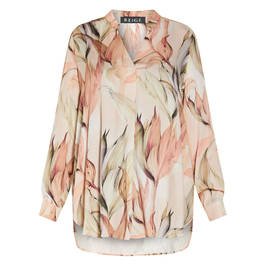 BEIGE FLORAL TUNIC PINK - Plus Size Collection