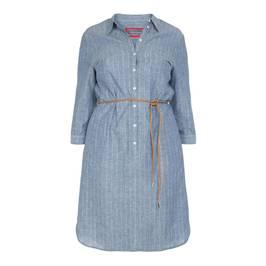 ROF AMO PINSTRIPE DENIM SHIRT DRESS - Plus Size Collection