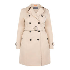 WHITE LABEL CLASSIC TRENCH COAT - Plus Size Collection