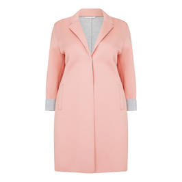 ROF AMO BONDED JERSEY COAT PINK - Plus Size Collection