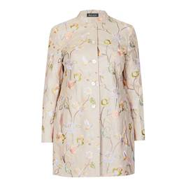 BEIGE LABEL LINEN EMBROIDERED FLORAL JACKET - Plus Size Collection