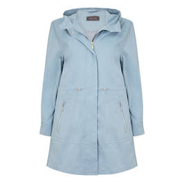WHITE LABEL PARKA JACKET PALE BLUE - Plus Size Collection