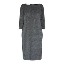 SALLIE SAHNE LUREX DRESS SILVER - Plus Size Collection