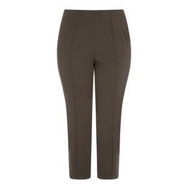 SALLIE SAHNE ANKLE GRAZER TROUSER OLIVE - Plus Size Collection