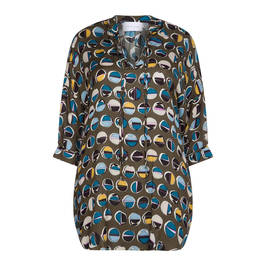 SALLIE SAHNE SPOT TUNIC - Plus Size Collection