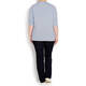 Sandra Portelli 100% cashmere blue v-neck SWEATER