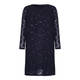Select Midnight Blue Sequined Lace Dress & Coat