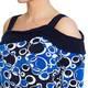 TIA DRESS, JERSEY CIRCLE PRINT COLD SHOULD