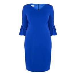 TIA TRUMPET CUFF DRESS COBALT - Plus Size Collection