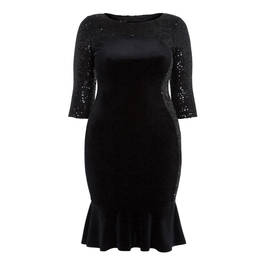 TIA BLACK SEQUIN DRESS - Plus Size Collection