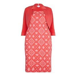 TIA Coral stretch jacquard sheath dress & Bolero - Plus Size Collection