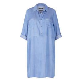 VERPASS PALE DENIM DRESS - Plus Size Collection