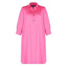 VERPASS COTTON BLEND SHIRT DRESS PINK - Plus Size Collection