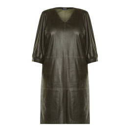 VERPASS ECO-LEATHER DRESS GREEN - Plus Size Collection
