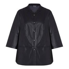 VERPASS FAUX LEATHER JACKET BLACK - Plus Size Collection