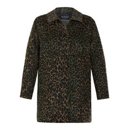 VERPASS ANIMAL PRINT JACKET GREEN - Plus Size Collection