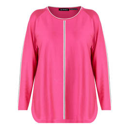VERPASS KNITTED TUNIC PINK - Plus Size Collection